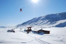 Iskall forskningsstation stängd på grund av oväder