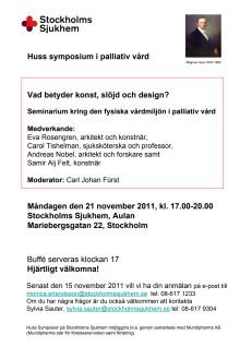 Vad betyder konst, slöjd och design för den döende patienten?