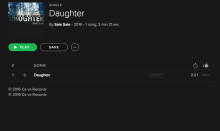'DAUGHTER' Out Now On Spotify!