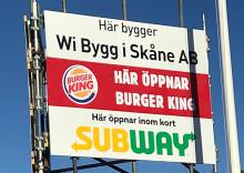 Burger King, Subway och Pizzabakeren till Norra Fäladen i Lund