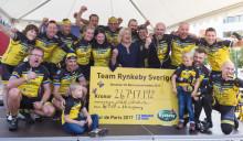 Team Rynkeby cyklar i Nordstan imorgon