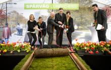 Nu är bygget av spårvägen i Lund invigt!