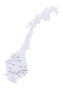 Strekninger for Enovas ladeinfrastruktur-konkurranse runde 3 (PDF)