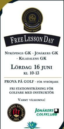 PGA Free Lesson Day lördagen 16 juni kl 10-13 på Nyköpings Golfklubb