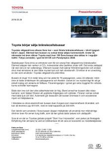Toyota börjar sälja bränslecellsbussar