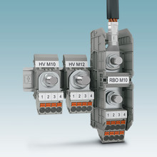 Pick-off terminals for bolt terminal blocks with Push-in connection