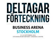 Här är den slutgiltiga deltagarförteckningen för Business Arena Stockholm 2016!