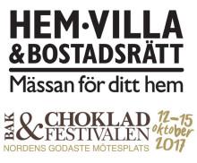 PRESSINBJUDAN: Pressfrukost för Hem, Villa & Bostadsrätt samt Bak- & Chokladfestivalen