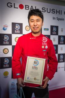 Sushi de Salmón Noruego del Campeón de España del Global Sushi Challenge