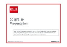 2015/3 1H Presentation