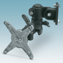 Swivel arms for DCS display carriers