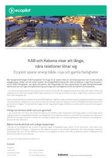 Kundcase: KAB Fastigheter sparar energi både i nya och gamla fastigheter
