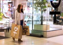 Butiksemballage med tema hållbarhet