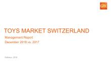 Panelmarkt traditionelle Spielwaren Schweiz 2018 im Vergleich 2017.