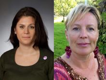 Maria Svensson och Linda Hiltmann från Feministiskt initiativ seglar med Ship to Gaza