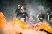 Fire and 10.000 volt electricity challenged the runners at Tough Viking Oslo
