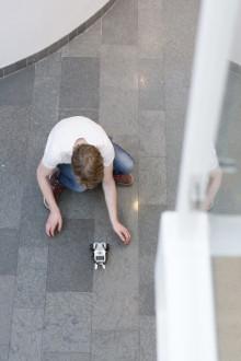 Legorobotar kämpade på snitslad bana