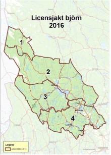 Licensjakten på björn i Dalarna avslutad för i år
