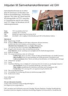 Inbjudan till Samverkanskonferensen vid GIH