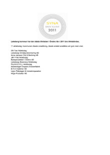 Företagen bakom Bästa Tillväxt 2011 i Lekeberg kommun.