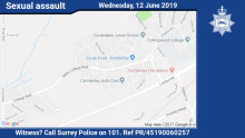 Witness appeal following serious sexual assault in Camberley