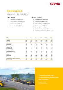 Svevia delårsrapport januari - juni 2014