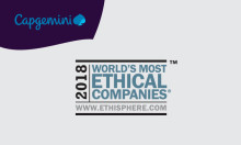 Capgemini utnevnt til et av 2018 World's Most Ethical Companies® av Ethisphere Institute for sjette året på rad