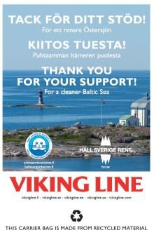 Viking Line donerar 650 000 kronor för ett renare Östersjön