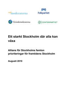 Ett starkt Stockholm där alla kan växa