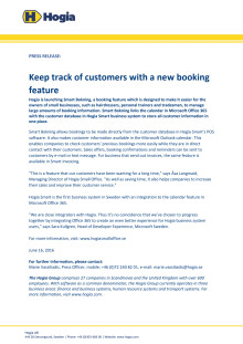 Keep track of customers with a new booking feature