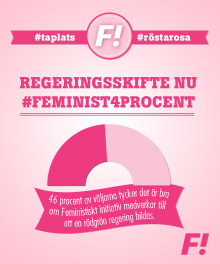 Varannan kvinna vill att Feministiskt initiativ medverkar till en rödgrön regering