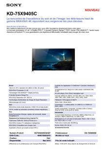 KD-75X9405C von Sony