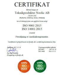 Uppgraderad ISO-certifiering till 9001:2015 & 14001:2015
