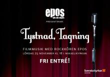 Tystnad, tagning - Filmmusik med rockkören Epos