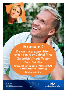 Affisch Gospelkonsert Göteborg 27 november 2013