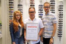 SportOptik – Innovatör blev utsedd till Årets Optikbutik 2014