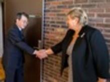 Konsernsjefen i Mitsubishi Corporation møtte Erna Solberg