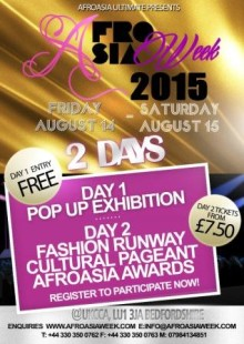 AfroAsia Week UK 2015 - August 14-16th 2015