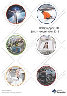Inlandsinnovation publicerar delårsrapport januari-september och tredje kvartalet 2012