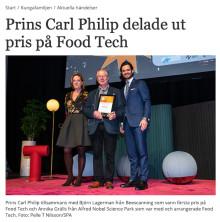 Björn Lagerman kungligt hyllad för Beescanning
