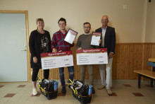 Två elever vid Sundsvalls gymnasium belönade med Bygmastipendiet
