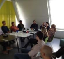 Lunchföredrag med Filippa Bergin som berättade om sin syn på hållbart företagande