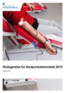 Redegørelse for blodproduktområdet 2015