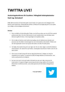 Twitter-riktlinjer till konferens 23 maj