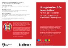 Internationella bibliotekets programblad för bok- och biblioteksmässan 2016