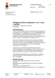 Tjänsteskrivelse för detaljplan för del av Dirigenten 1