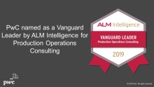 PwC named an ALM Vanguard leader in Production Operations Consulting 2019