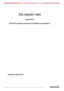 Det digitala valet - rapport för augusti 2014