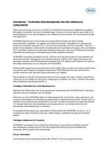 Faktablad – Tecentriq (atezolizumab) som behandling vid icke-småcellig lungcancer