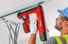 Ökad produktivitet vid montage av innerväggar med Hiltis nya batteridrivna bultpistol BX 3